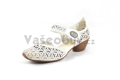 Obrázek Rieker 43726-80 dámská obuv weiss