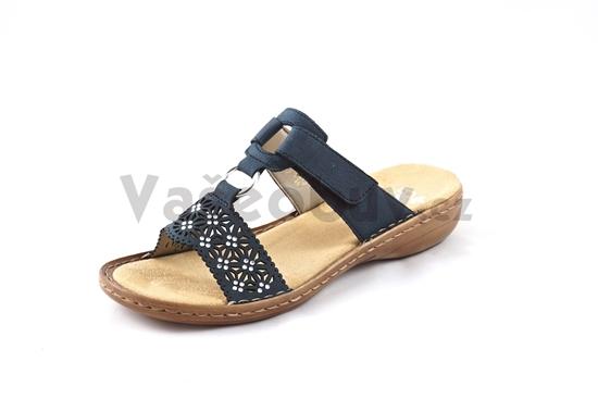 Obrázek z Rieker 60871-14 blu dámské pantofle